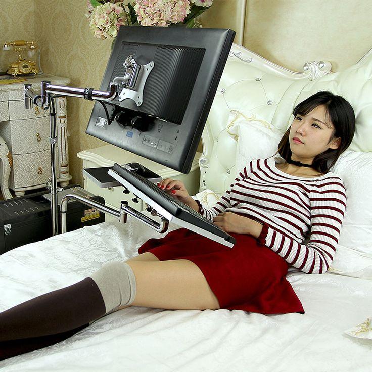 Multi-function computer desk desktop mobile laptop stand lazy bed dormitory bedside tables study table