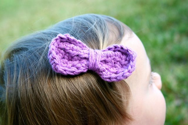 Free Crochet Hat Pattern With Bow : Easy Peasy Bow: Free Crochet Pattern Crochet Pinterest