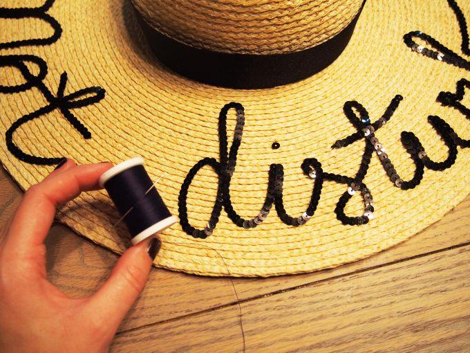 DIY Do Not Disturb Sun Hat