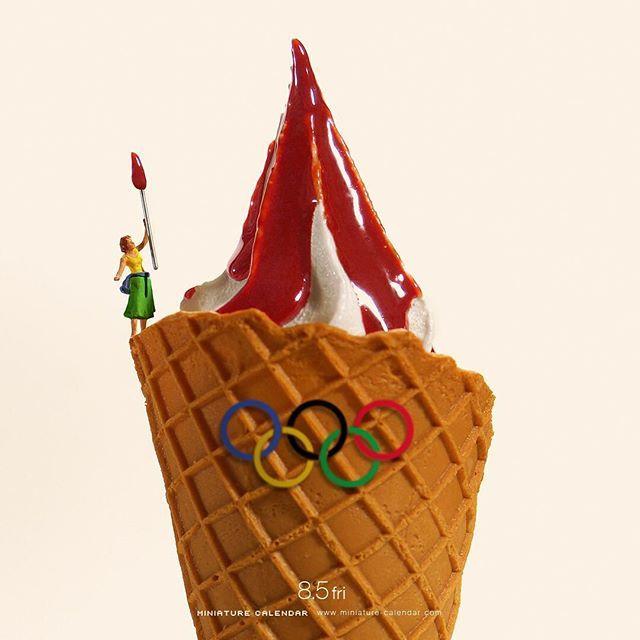 ". 8.5 fri ""Olympic torch"" . 聖火台のデザインを大胆予想 . #アイス #聖火 #聖火台 #製菓の聖火 #IceCream #OlympicTorch #OlympicCauldron #リオ五輪 #Rio2016 #Olympics ."