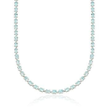 "$275 Ross-Simons - 40.00 ct. t.w. Blue Topaz Necklace in Sterling Silver. 18"" - #840117"