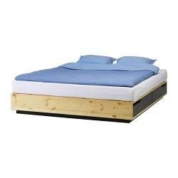 Bed frame with storage boxes