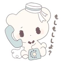 moco-chan and her little teddy bear's daily life sticker.
