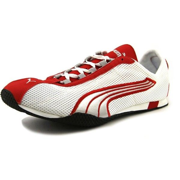 Puma Puma H-Street Round Toe Synthetic Running Shoe | Bluefly.Com ($59) ❤ liked on Polyvore featuring shoes, athletic shoes, white, puma flats, flat running shoes, white flat shoes and silver flat shoes