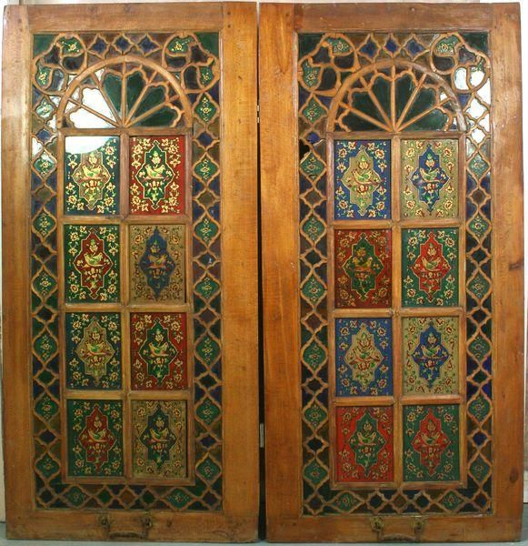 5331A: Pr. of Persian Doors with Reverse Painting on Gl : Lot 5331A & 93 best persian doors images on Pinterest | Persian Photos and ... Pezcame.Com
