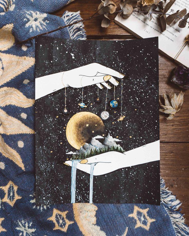 Ihr eigenes Universum Raum Kunst Schlafzimmer Dekor   Etsy   – Amazing Art
