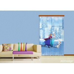 Jégvarázs, Elsa és Anna függöny #függöny #lakástextil #lakberendezés #gyerekszoba #jégvarázs #elsa #frozen