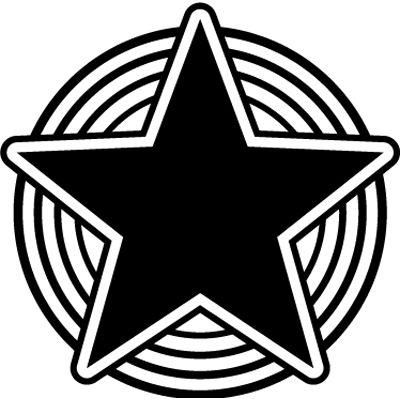 Pegatina en vinilo autoadhesivo con dibujo de estrella