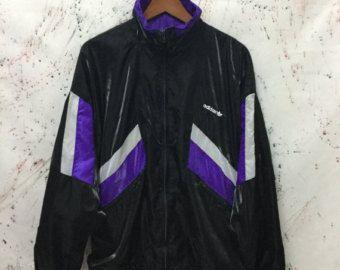 Vintage de los años 90 Adidas Retro Windbreaker chaqueta Hip Hop botín hecho en Europa