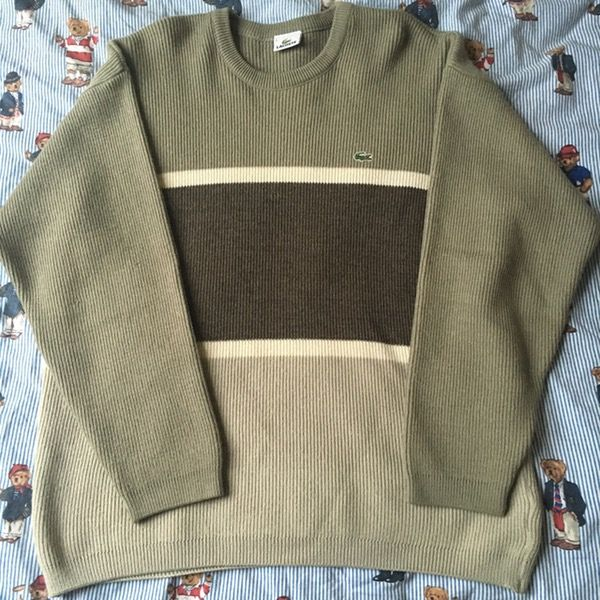 Image of Vintage Colour Block Lacoste Jumper (L)