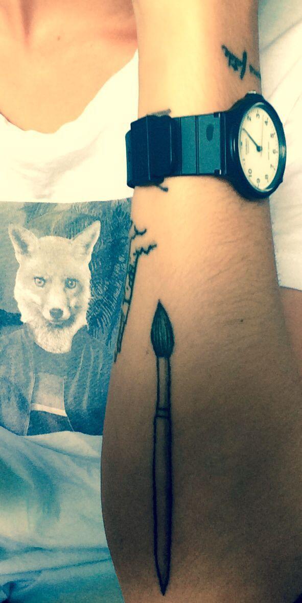 Best 25+ Brush Tattoo Ideas On Pinterest | Sketch Tattoo Design Koi Fish Tattoo Forearm And ...