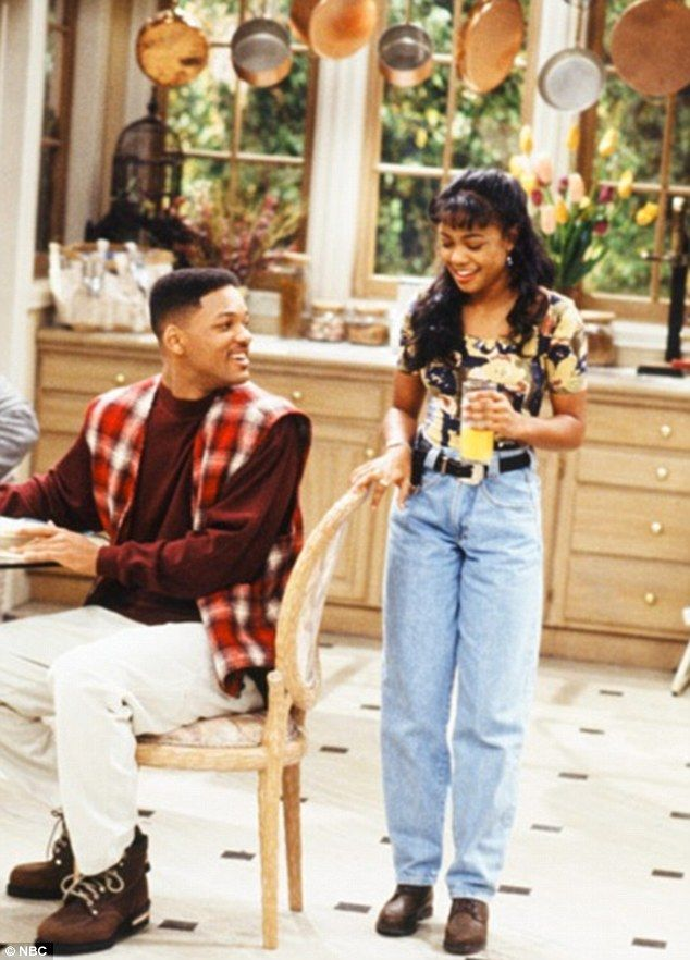 Nineties throwback: The 36-year-old actress was only 11 years old when she began her role as the 46-year-old actor's privileged, prissy cousin Ashley Banks on the NBC sitcom