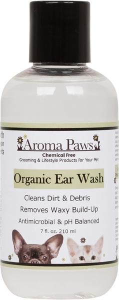Keeping your dog's ears clean with the Aroma Paws Organic Ear Wash. Cleans dirt & debris and removes build-up from your dog's ears.