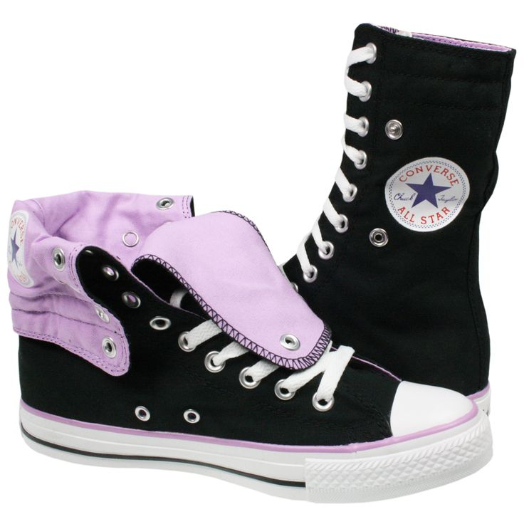 Chuck Taylor Knee High Converse | CONVERSE ALL STAR CHUCK TAYLOR KNEE HIGH X-HI 121983 BLACK CANVAS ...