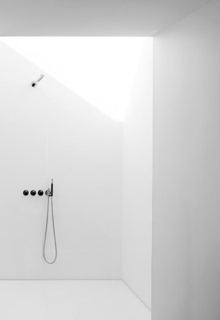 Minimalist bathroom shower design