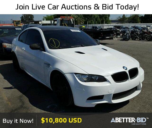 Salvage  2009 BMW M3 for Sale - WBSWD93589PY43709 - https://abetter.bid/en/25379647-2009-bmw-m3