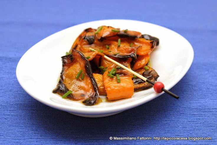 La Piccola Casa: Le ricette dell'orto sul balcone: Peperoni quadrati grigliati con erba cipollina e cardamomo