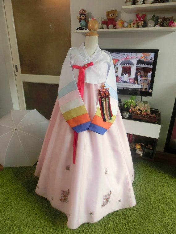 Luxury  Korean Traditional Clothes Womens Dress  by kimonocuty