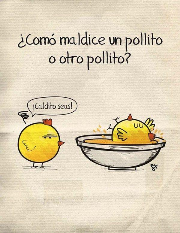 C mo maldice un pollito a otro pollito humor e How do you say dab in spanish