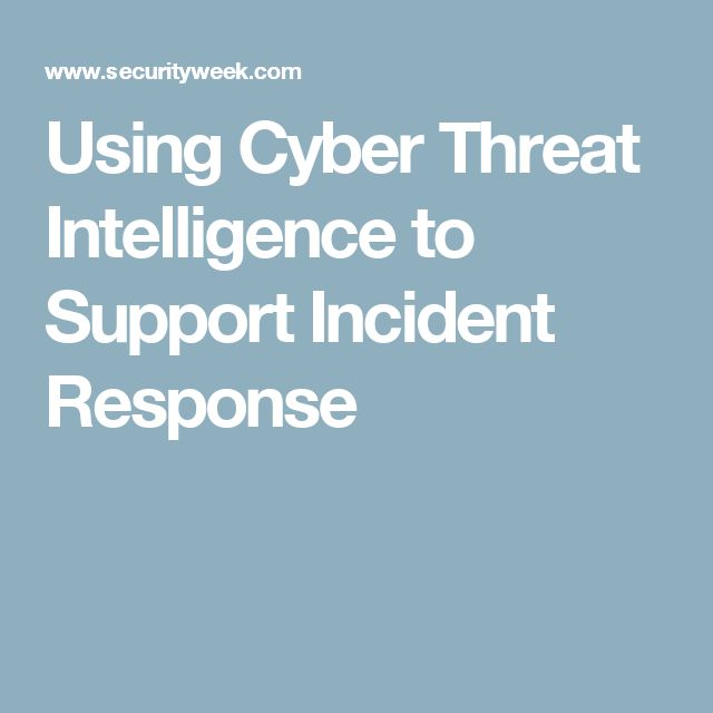 Using Cyber Threat Intelligence to Support Incident Response