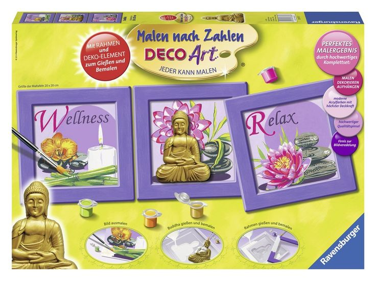 Ravensburger 28970 - Buddha - Malen nach Zahlen-Deco Art, 60 x 20 cm: Amazon.de: Spielzeug