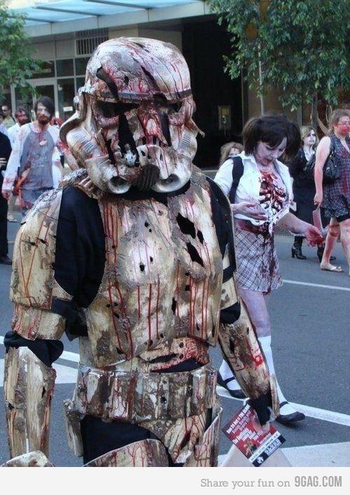 ...Geek, Cosplay, Halloween Costumes Ideas, Walks Dead, Storms Troopers, Zombies Walks, Stars Wars, Zombies Stormtroopers, Starwars