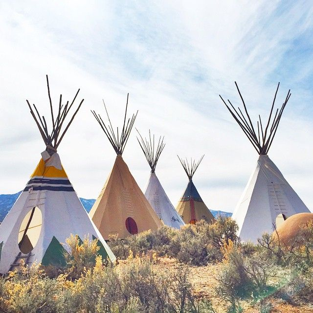 Taos, NM because everyone at some point wanted to live in a teepee. Why not go spend a night! Bring your suede fringe accessories!