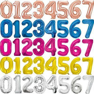 "Contamos con 7 tonalidades diferentes en #Globo Metálicos de #Números de 36"" #Rojo, #Azul, #Negro, #Plata, #Dorado, #RoseGold y #Fucsia!!"