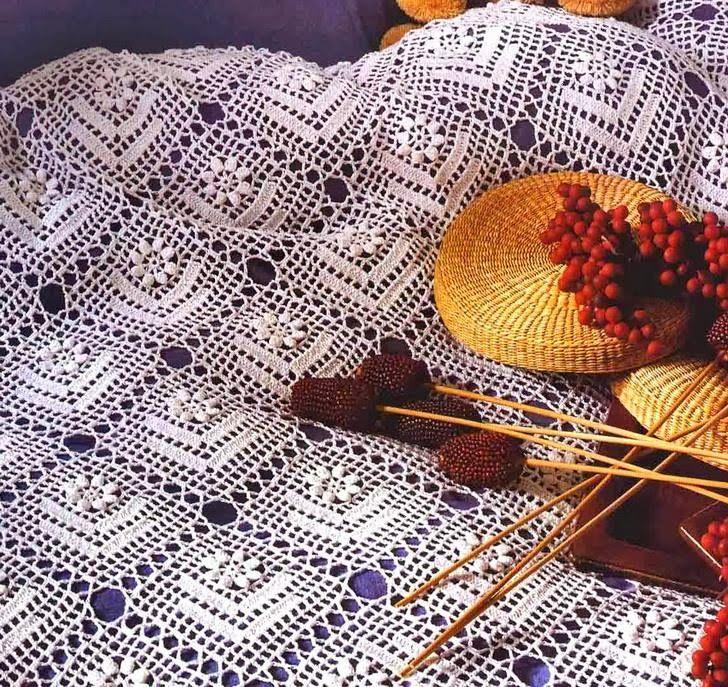 242 Best Crochet Bed Spread Images On Pinterest Bedspread Crochet