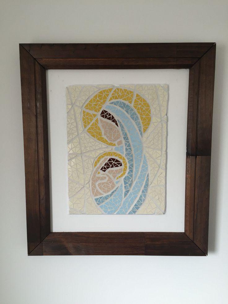Madonna. Mosaic wall art Fernanda Elortegui