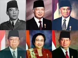 President of Indonesia pictures 1. Ir. Soekarno 2. Soeharto 3. Ir. BJ Habibie 4. KH Abdurrahman Wahid 5. Megawati Soekarnoputri 6. Susilo Bambang Yudhoyono