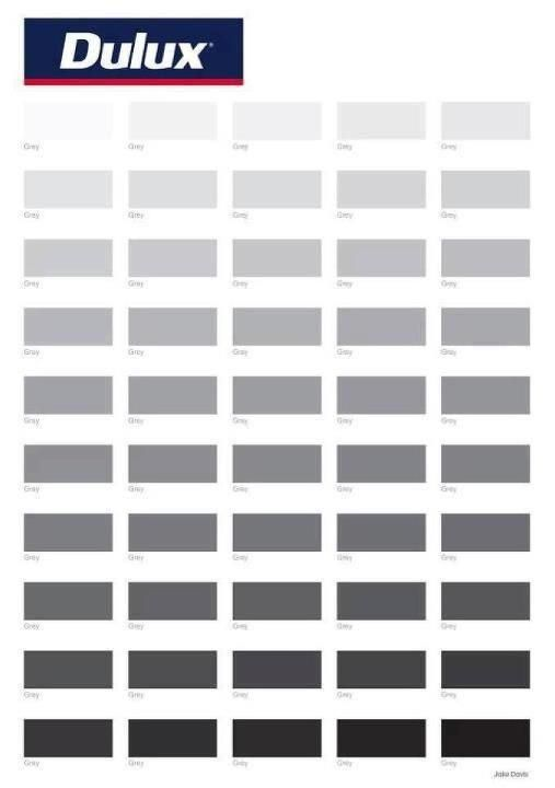 Shades Of Gray Paint 50 shades of grey isn't so sexy when you put it like that, dulux
