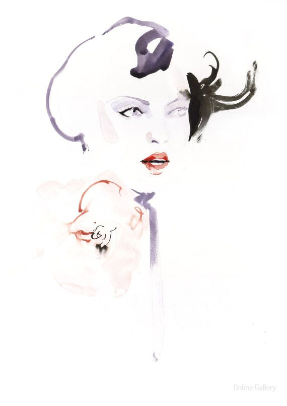 Ilustratie de moda pe violet