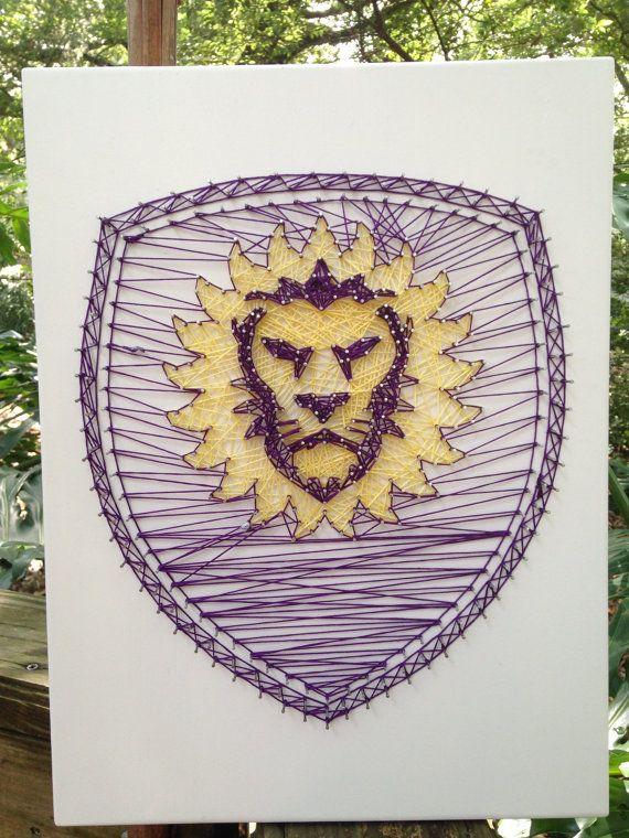 Orlando City Soccer String Art by RobinsNeStringArt on Etsy