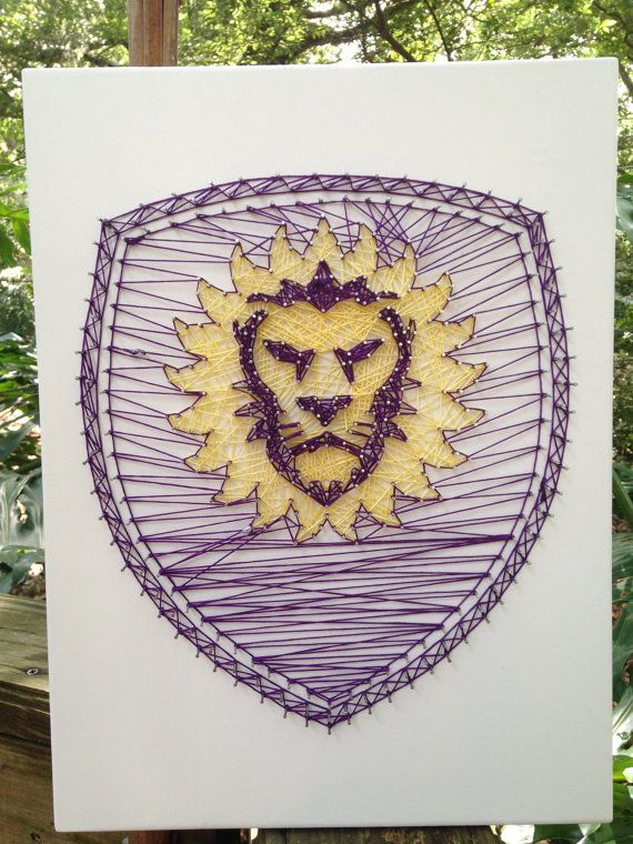 Orlando City Soccer String Art by RobinsNeStringArt on Etsy