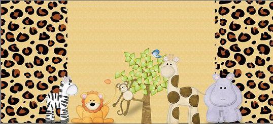 Kit con animales safari para imprimir y decorar