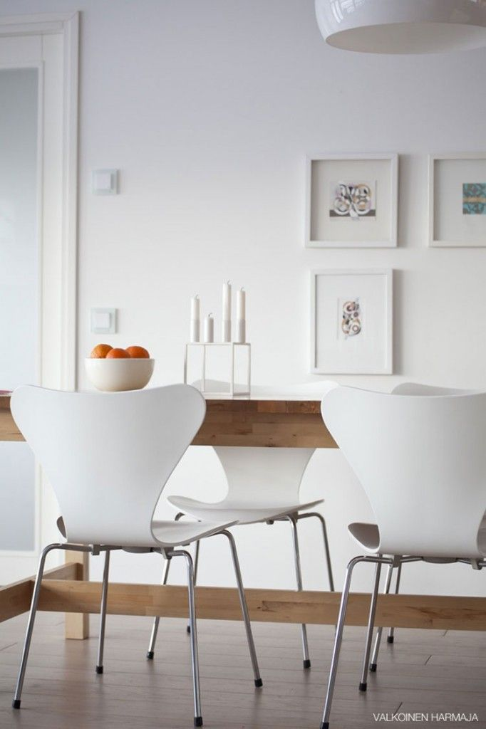 Een eetkamer met witte meubels - Inspiratie!