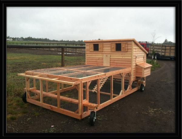1000 ideas about chicken tractors on pinterest chicken for How to build a movable chicken coop
