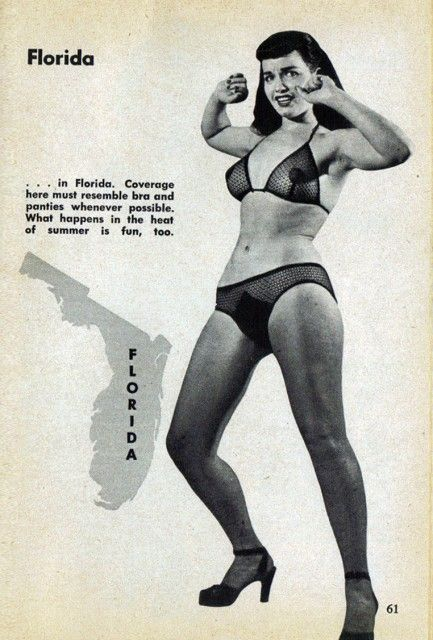 Florida Guide for Strip-Teasers, Bettie Paige, 1953Carnivals Magazines, Strips Teased, Betty Paige, Pinup, 1953 Carnivals, Betty Pages, Pin Up, Photos Models, Magazines Pictorial