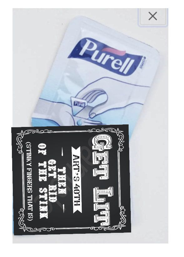 Purell Mini Single Use Hand Sanitizer Party Favors Cigar Bar