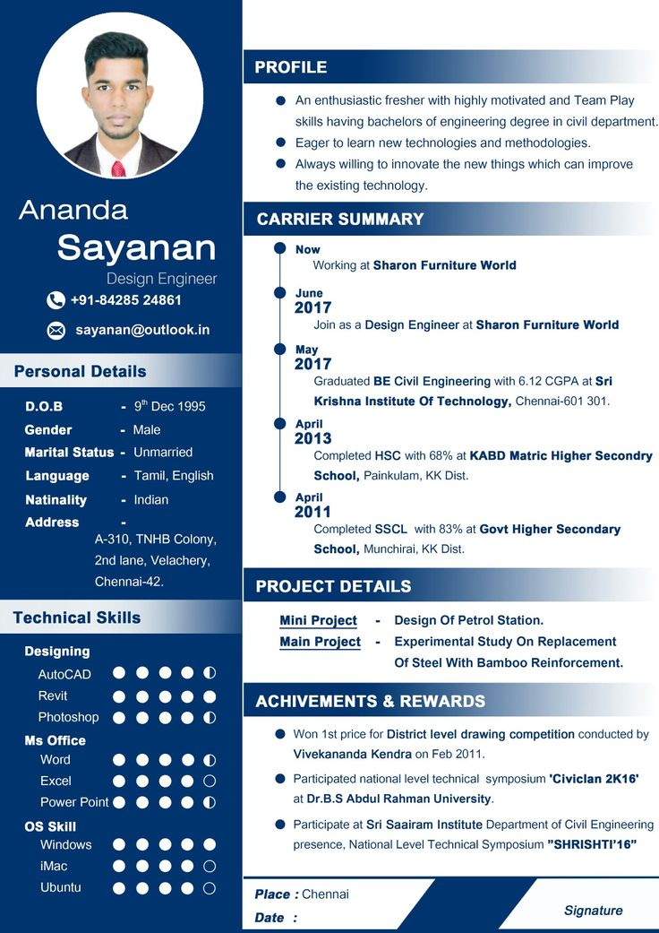 classic resume sample