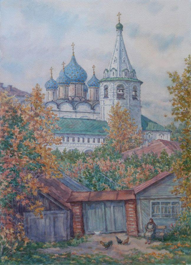 Людмила Томашевская - акварель. Золотая осень в Суздале.