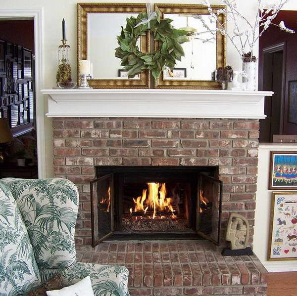 Fireplace Mantel Decorating Ideas With Mirror Glass