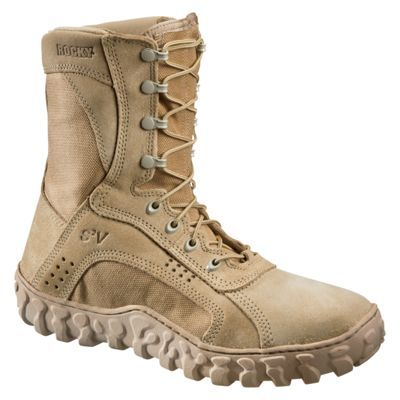 ROCKY S2V Vented Military Duty Boots for Men - Desert Tan - 11.5W