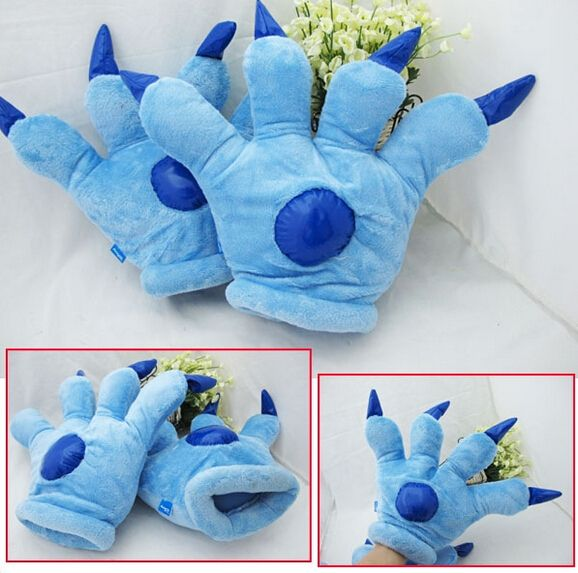 Бесплатная доставка 2 шт./пара аниме косплей плюшевые Стежка paw стиль glove.2pcs/пара плюшевые косплей paw горячее надувательство.