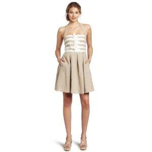 Jessica Simpson Women's Halter Dress with Grosgrain Trim (Apparel)  http://www.amazon.com/dp/B0073ETD3G/?tag=oretoretanku-20  B0073ETD3G