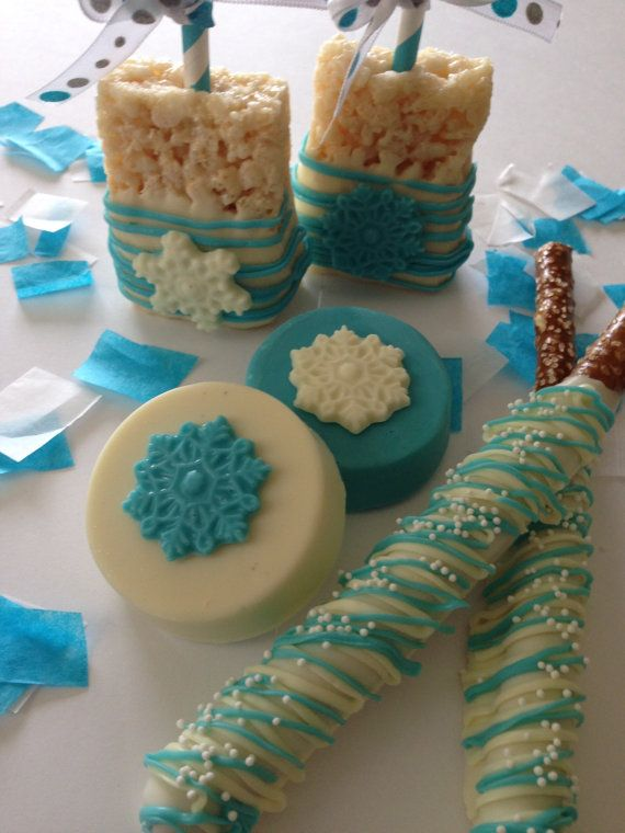 Winter Wonderland Party ~ Frozen Party Favors ~ Winter Onederland Party ~Holiday Party ~ Christmas Candy ~ Snowflake Treats~ Christmas Oreos