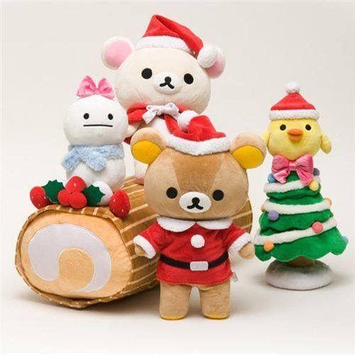 Rilakkuma W(`0`)W #Christmas #LogCake