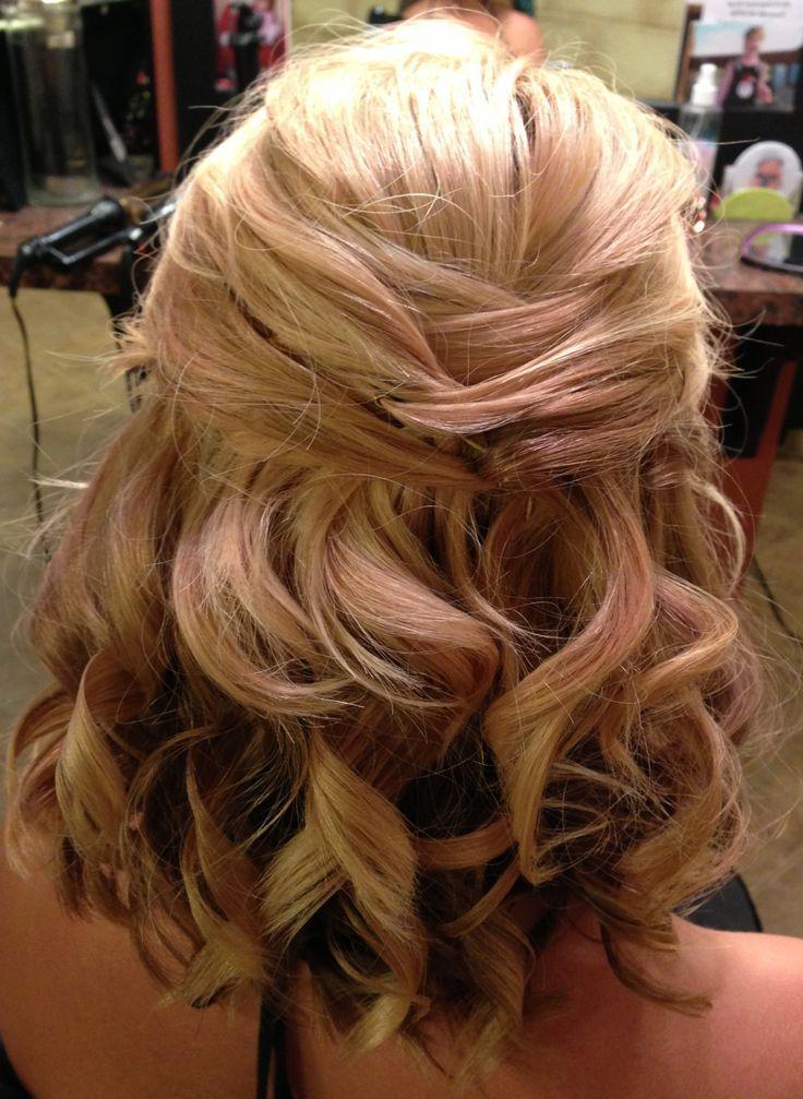 medium length half up wedding hairstyles pin by laura