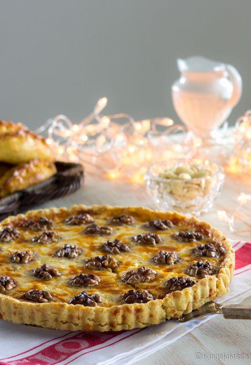 Cheddar-pähkinäpiirakka | Reseptit | Kinuskikissa